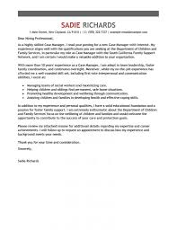 Management Cover Letter Cover Letter Case Manager Experience With New Admin Job