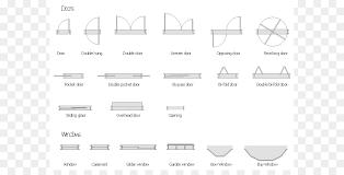 Window Floor plan Door Architecture Symbols Cliparts png download