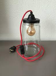 Stoere Lamp In Glazen Pot Lamp Lampen Lampen Maken En Doe Het Zelf