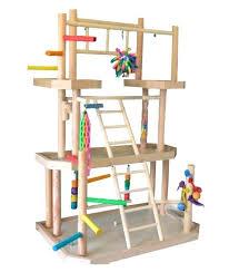 parakeet play gym diy pvc parrot
