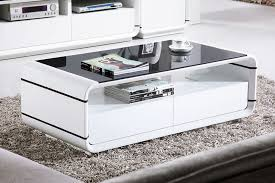 contemporary high gloss white coffee table with drawers small home pertaining to modern plan 7