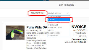 document invoice customize sales documents and purchase orders one up knowledge center