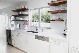 white kitchen cabinets with wood floating shelves white floating shelves kitchen cabinets