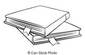 creative design of literature symbol vector search clip art  book symbol