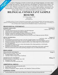 Resume Example Bilingual. Resume. Ixiplay Free Resume Samples