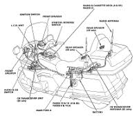 honda gold wing gl1500 audio radio wiring diagram automotive honda goldwing 1500 cable routing