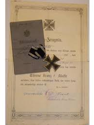 ww military medal iron cross ek decoration merit war   iron cross 1914 ek2 diploma 115th infantry regiment german ww1 medal prussia 1918 great war