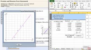 Regression Chart Excel 2013 Least Squares Linear Regression Excel