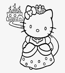 The hello kitty printables and coloring pages below have great illustrations for every letter. Hello Kitty And A Nice Castle Coloring Page Coloring Pages To Print Princess Transparent Png 700x902 Free Download On Nicepng
