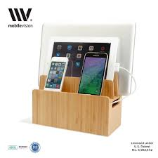 Hanging Charging Station Amazoncom Bamboo Universal Multi Device Cord Organizer Stand And