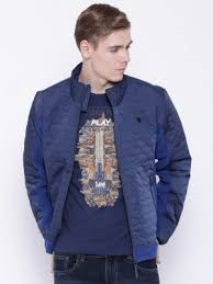 Jacket - United colors of benetton navy quilted bomber jacket ... & Lee navy quilted panelled jacket Adamdwight.com