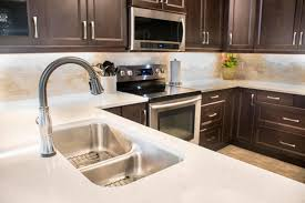 white kitchen counter. Plain Kitchen White Kitchen Counter And Dark Cabinets Throughout Kitchen Counter