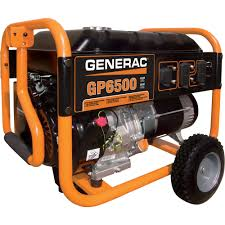 generac. FREE SHIPPING \u2014 Generac GP6500 Portable Generator 8125 Surge Watts, 6500 Rated ,