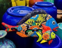 fish talavera on talavera ceramic wall art with talavera pottery as art