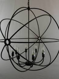 black iron orb pendant 80cm