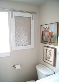 Door Window Cover Project Kids Bathroom Diy Barn Door Window Cover For The