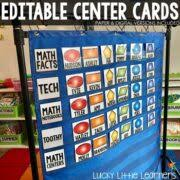 Center Rotation Chart Math Centers Rotation Chart Editable