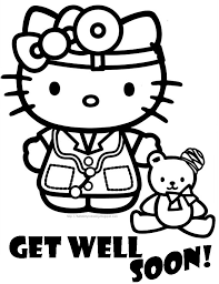Disney Get Well Soon Coloring Pages Great Free Clipart Silhouette