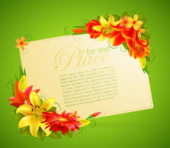 how to create a birthday card on microsoft word flower greeting cards 05 vector free vector 4vector