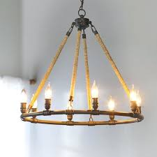 beach 8 light wagon wheel chandelier fixture fixtures for home