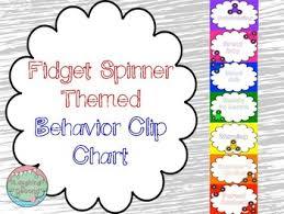 Fidget Spinner Chart Fidget Spinner Themed Behavior Chart