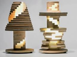 Unique Table Lamp that Looks Like Rock-a-stack Toy