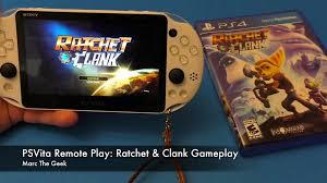 PSVita Remote Play Ratchet & Clank Gameplay