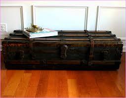 unique steamer trunk coffee table