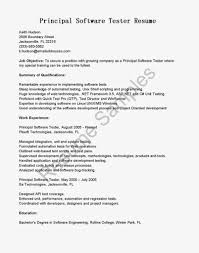 Sample Resume: Software Tester Resume Of Principal Sle.