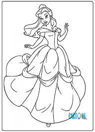 Disegni Da Colorare Di Belle La Principessa Disney Cartoni Animati