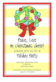 Free Holiday Open House Invitation Invitations Business