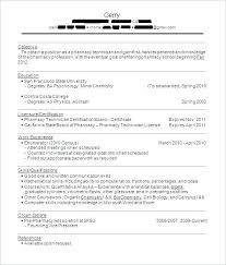 Pharmacists Resumes Best Pharmacy Technician Resume Example Livecareer Best Resume