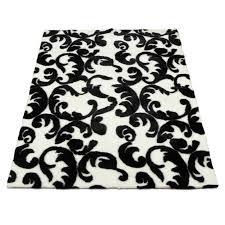 walk on me modern blackwhite area rug reviews wayfair