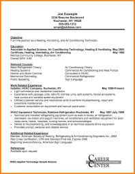 Hvac Resume Objective Examples Examples Of Resumes