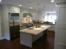Dark Hardwood Floors Kitchen Dream Inspiration White Cabinets Stone Countertops Stainless Throughout Design Decorating