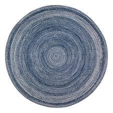 anji mountain epona braided 6 ft round blue area rug
