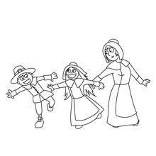 thanksgiving pilgrim girl coloring pages. Contemporary Girl Pilgrim Boys And Girls Throughout Thanksgiving Girl Coloring Pages G