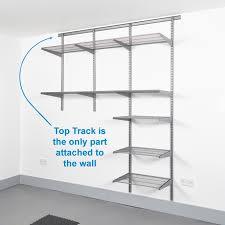 top track wall mounted shelving kits