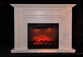 image of white electric fireplace tv stand