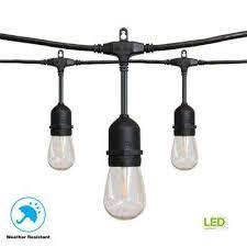 12 light filament led string light