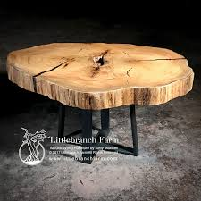 rustic dining table live edge wood slabs littlebranch farm cypress wood coffee