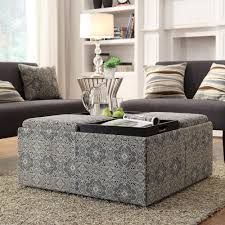 INSPIRE Q Montrose Blue Damask Storage Cocktail Ottoman $233.99...I like  the design