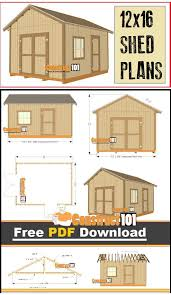 free house plans with material list new 12 16 shed plans gable design pdf