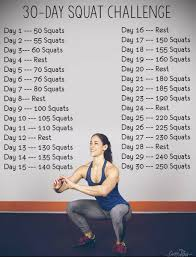 7 Day Squat Challenge Chart Get Into It
