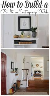Don't forget to Pin our DIY Entryway Built in Table!