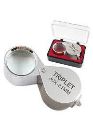 mini 30x glass magnifying magnifier