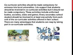 co curricular activities should be made compulsary jai shree bipinchandra 2 co curricular activities
