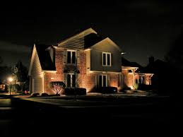 Exterior Best Soffit Lighting With Brick Wall And Sloping Outdoor
