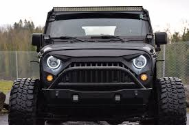 Jeep Grill With Light Bar Jeep Wrangler Jk Mega Bundle Light Bar Pods Halo Headlights Vader Grille
