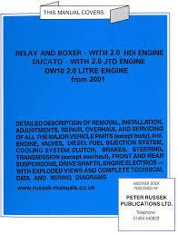 citroen vehicle manuals citroen relay 2 0 litre hdi rear cover medium